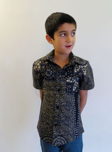 Boys Short Sleeved Shirt 'Blue Space'